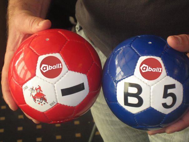 aball1 logo på ball